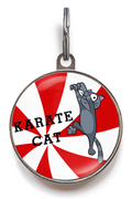 Karate Cat Cat ID Tag