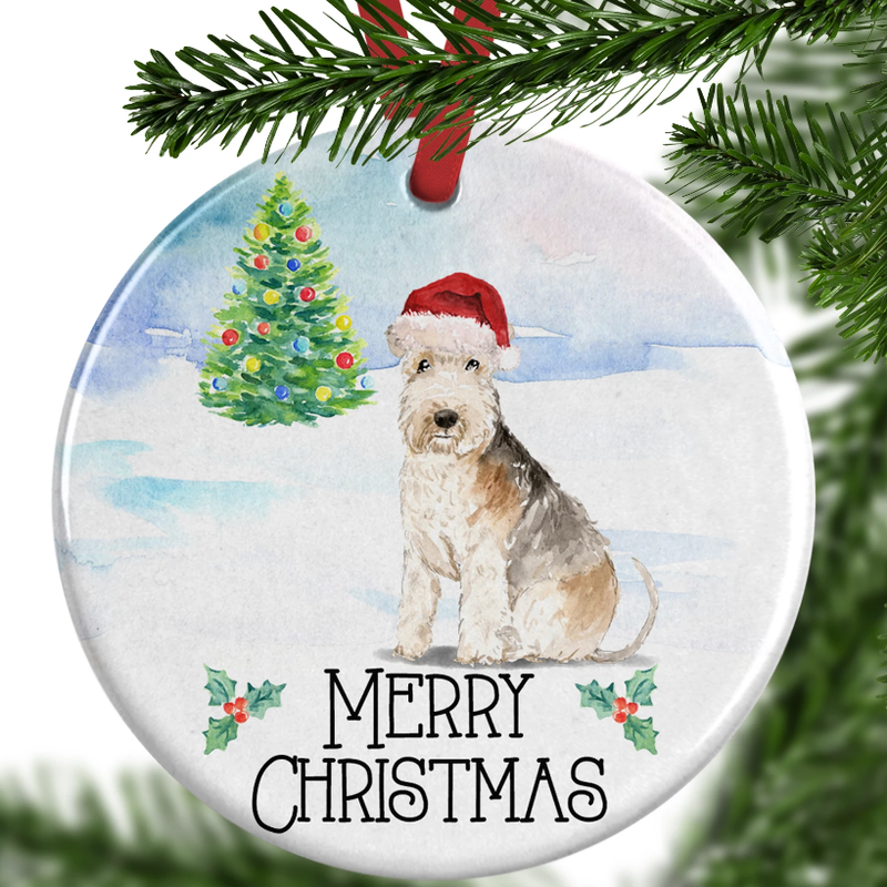 lakeland terrier christmas ornament