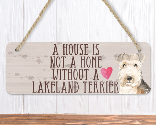 Lakeland Terrier Dog Sign
