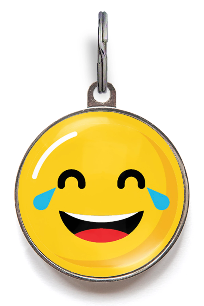 Tears of Joy Laughing Emoji Pet Tag