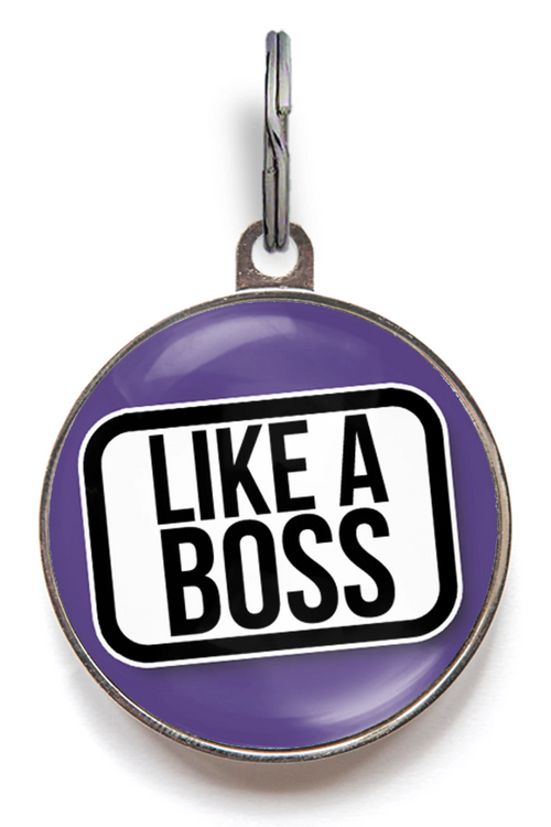 Like A Boss Pet ID Tag
