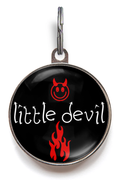 Little Devil ID Tag - Black