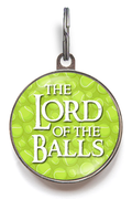 Lord Of The Balls Dog ID Tag