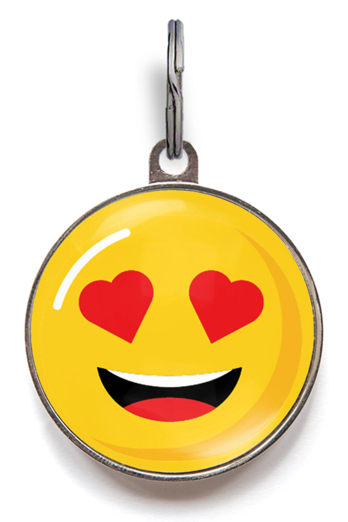 Love Emoji Pet Tag