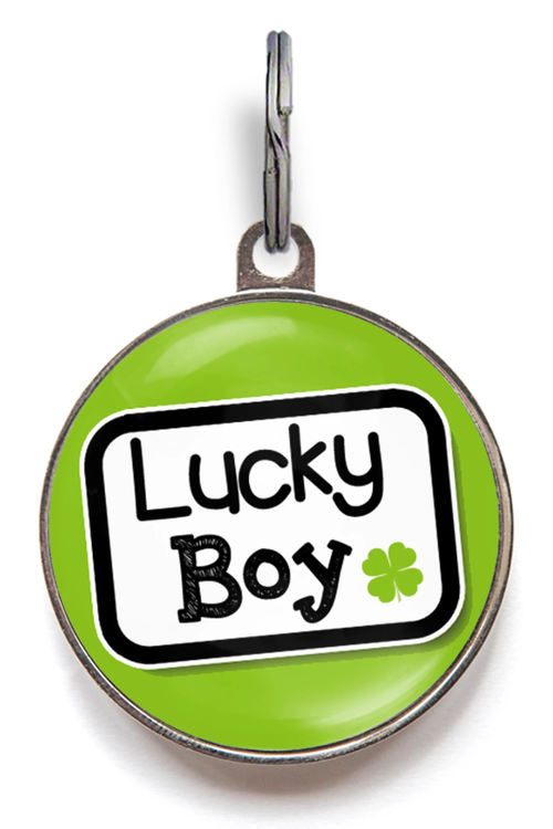 Lucky Boy Dog ID Tag