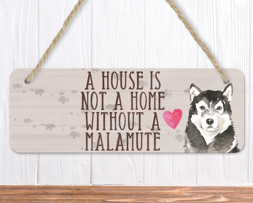 Malamute Dog Sign