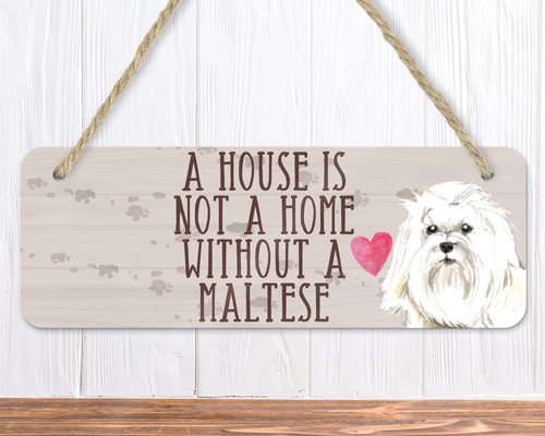 Maltese Dog Sign