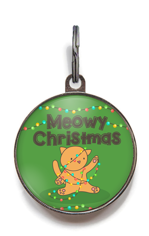 Meowy Christmas Cat Tag