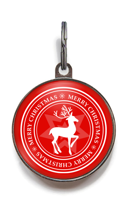 Merry Christmas Pet Tag