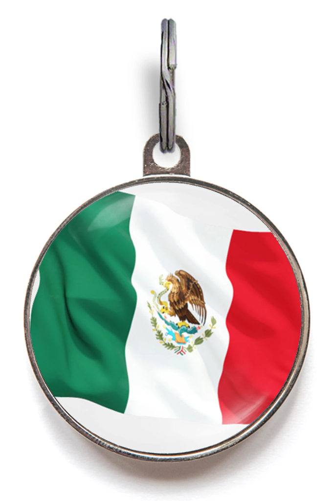Mexico Flag Pet tag