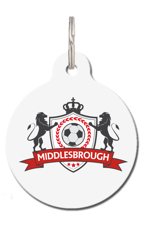 Middlesbrough Football Pet Tag