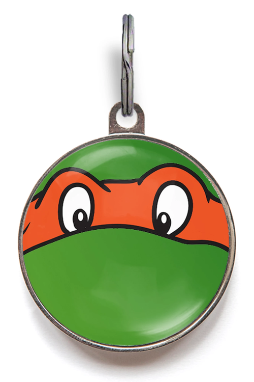 Orange Ninja Turtle Pet Tag