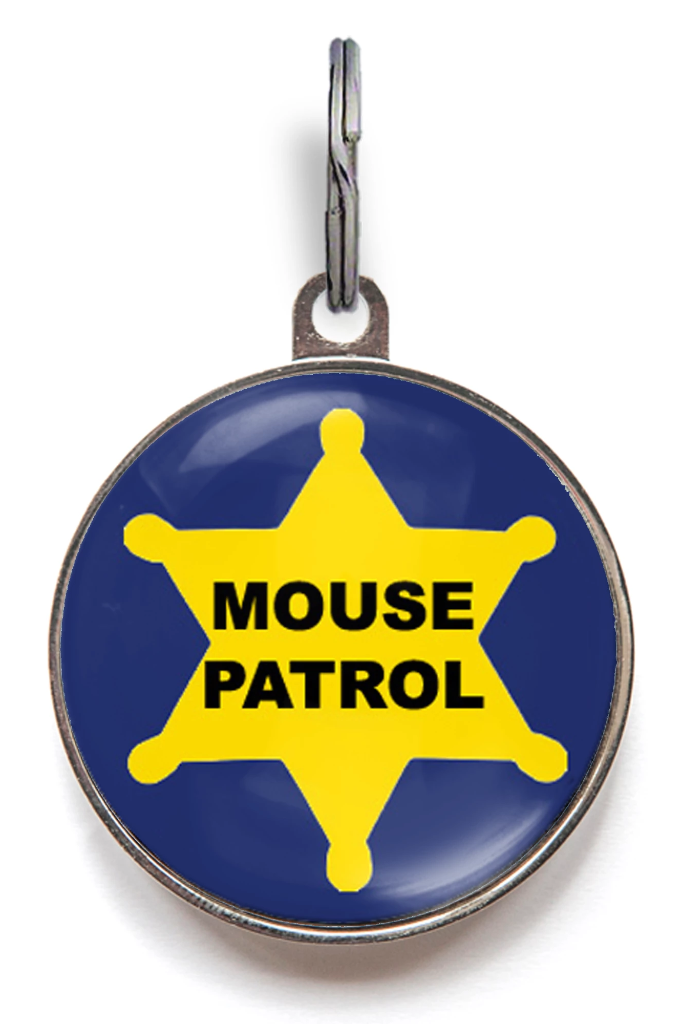 Mouse Patrol Cat Tag