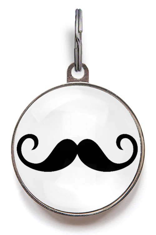 Moustache Pet ID Tag