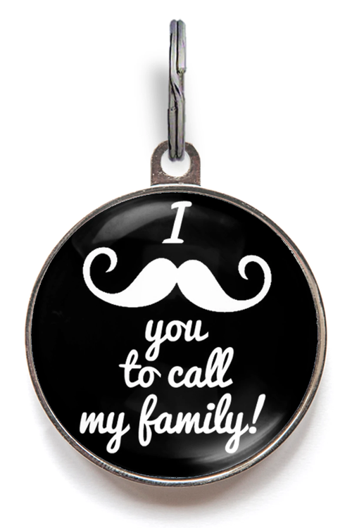 I Moustache You Pet ID Tag