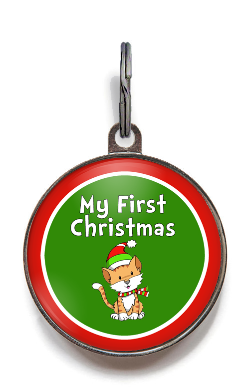 My First Christmas Kitten Cat Tag