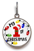 1st Christmas Dog Tag