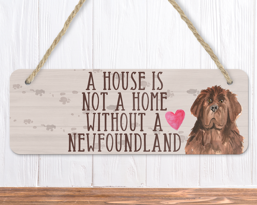 Newfoundland Dog Sign