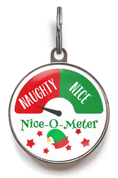 Christmas Dog Tags - Nice-O-Meter Naughty