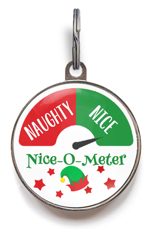 Christmas Dog Tags - Nice-O-Meter Nice