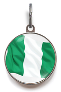 Nigerian Flag Pet ID Tag