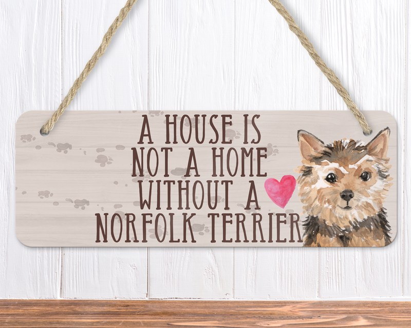 Norfolk Terrier Dog Sign