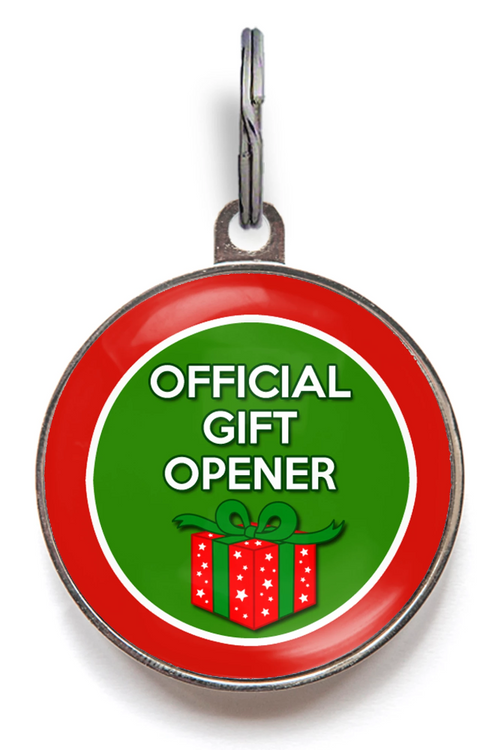 Official Gift Opener Pet ID Tag