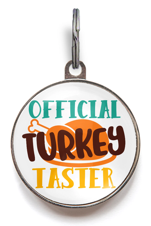 Turkey Taster Thanksgiving Dog Tag