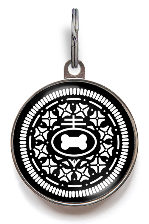Oreo Cookie Dog Tag