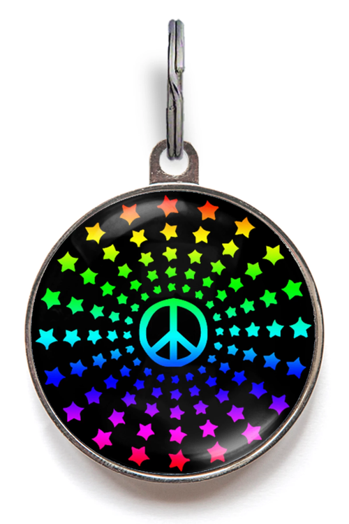 Peace Star Pet Tag