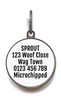Zombie Squad Red Pet ID Tag