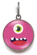 Pink Monster Pet Tag