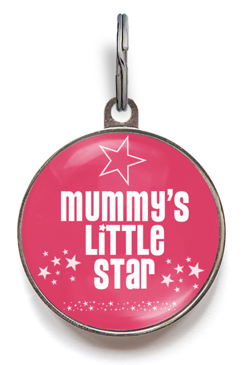 Mummy's Little Star Pet Tag - Pink