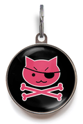 Pink Pirate Kitty Cat Tag