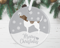 Pointer Christmas Decoration - Silver