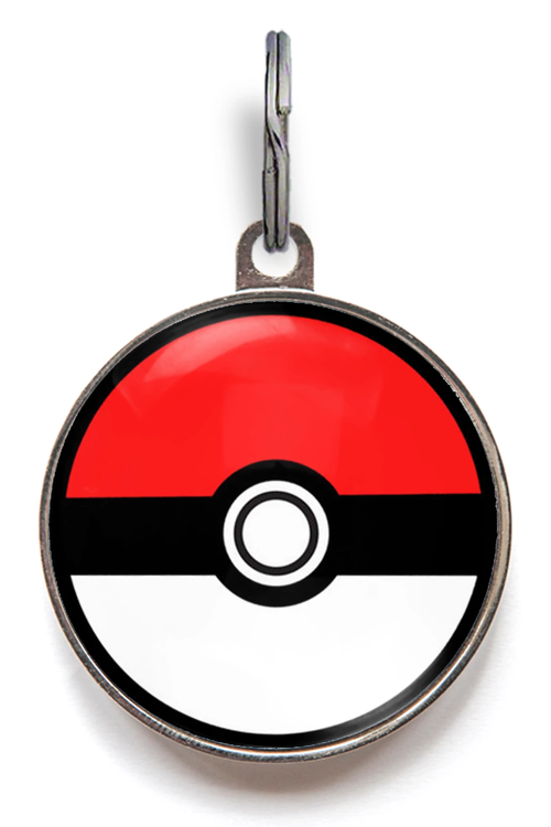 Pokemon Pokeball Pet Tag