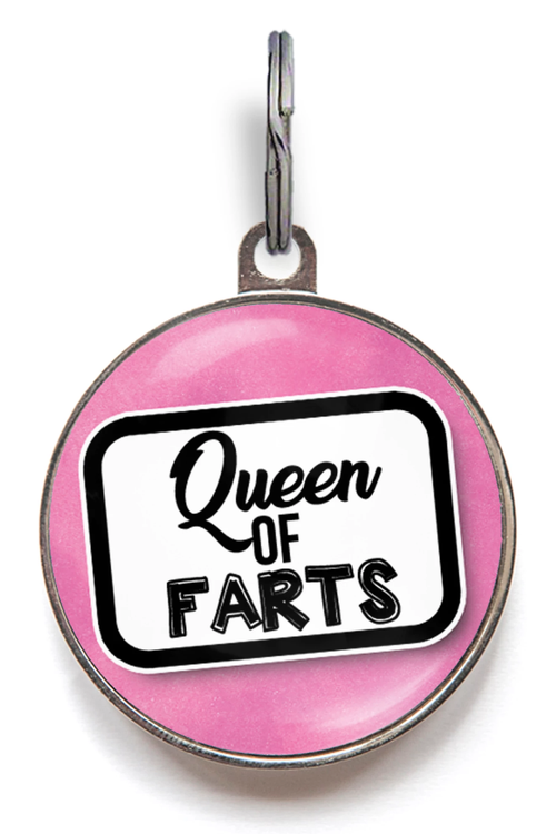 Queen Of Farts Dog ID Tag
