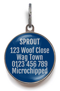 Blue and Grey Pet Name Tag