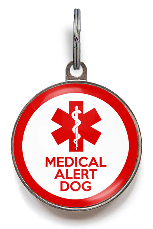 Medical Alert Dog ID Tag - Red