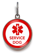 Red Service Dog Tag