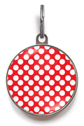 Red & White Spots Pet ID Tag
