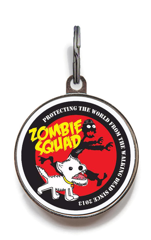 Red Zombie Squad Pet ID Tag