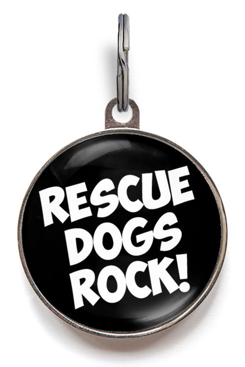 Rescue Dogs Rock Dog ID Tag