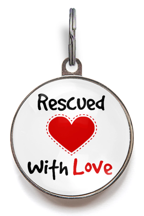 Rescued With Love Pet Tag