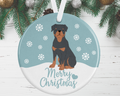 Rottweiler Christmas Decoration - Blue