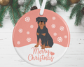 Rottweiler Christmas Decoration - Pink