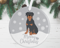 Rottweiler Christmas Decoration - Silver