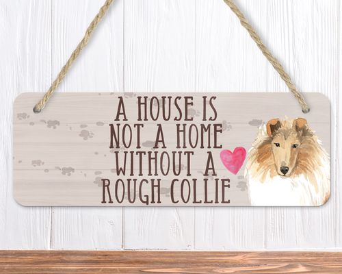 Rough Collie Dog Sign