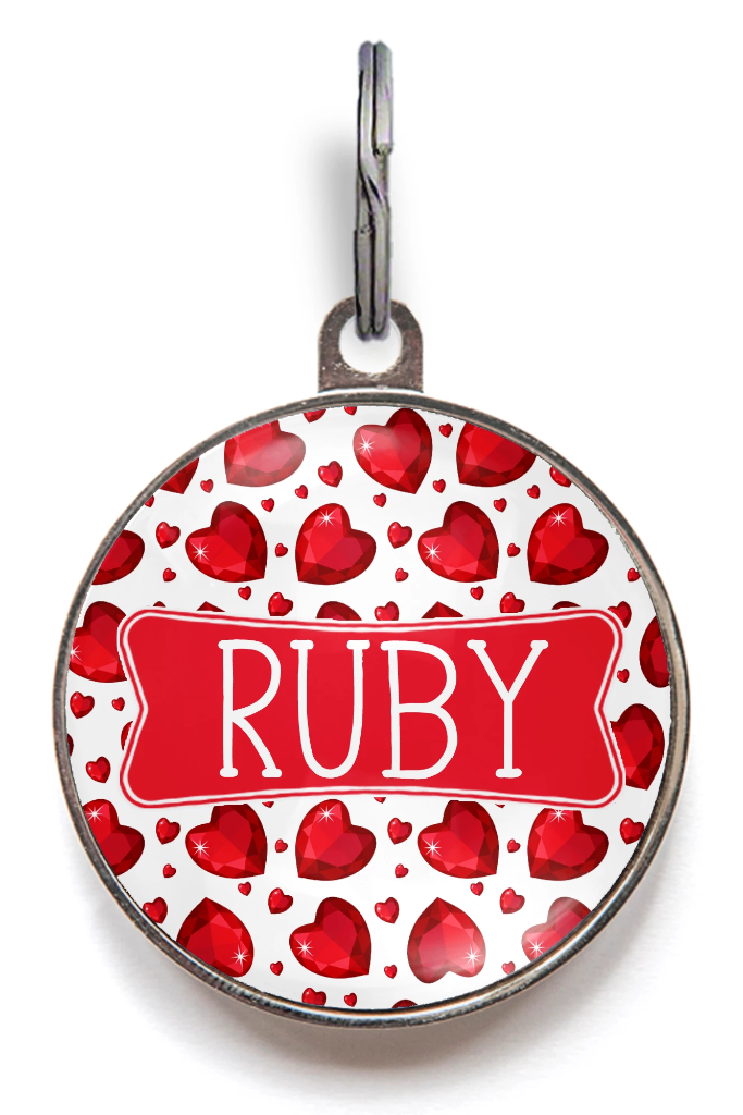 Ruby Dog Tag