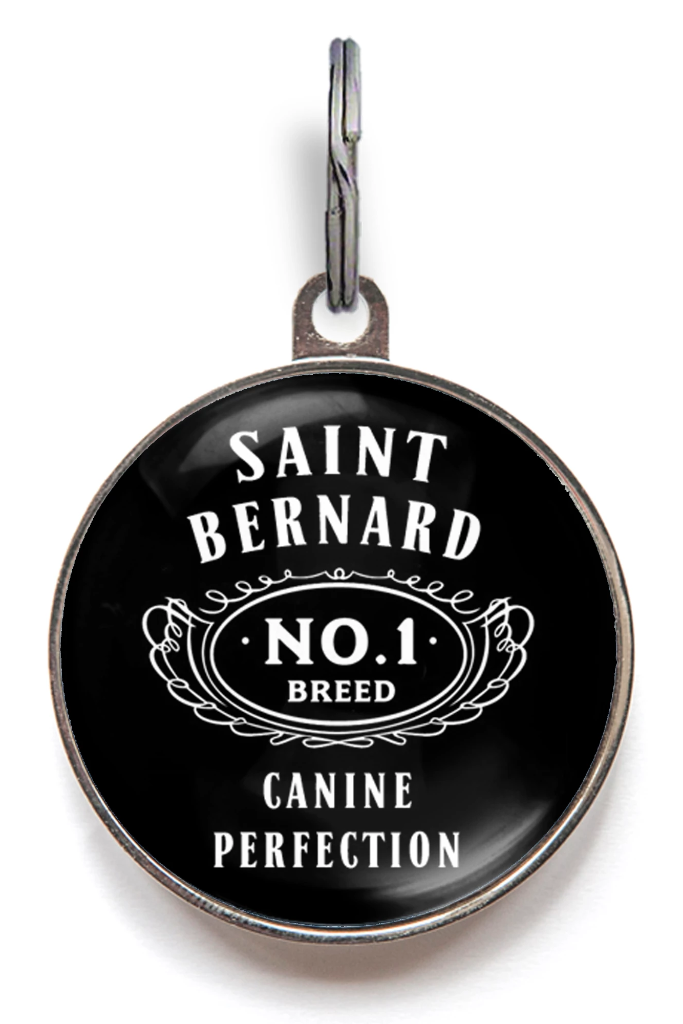 Saint Bernard Dog Breed Dog ID Tag